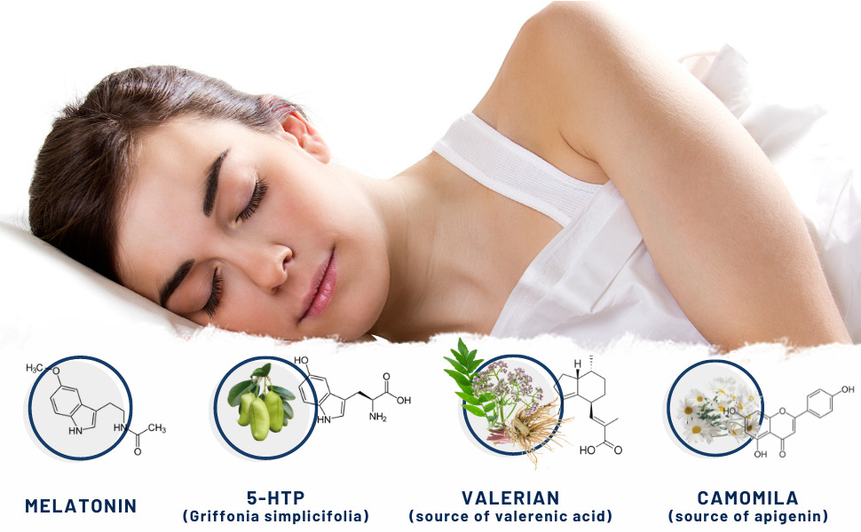 4Sleep Nutribiolite melatonin valerian 5HTP chamomile